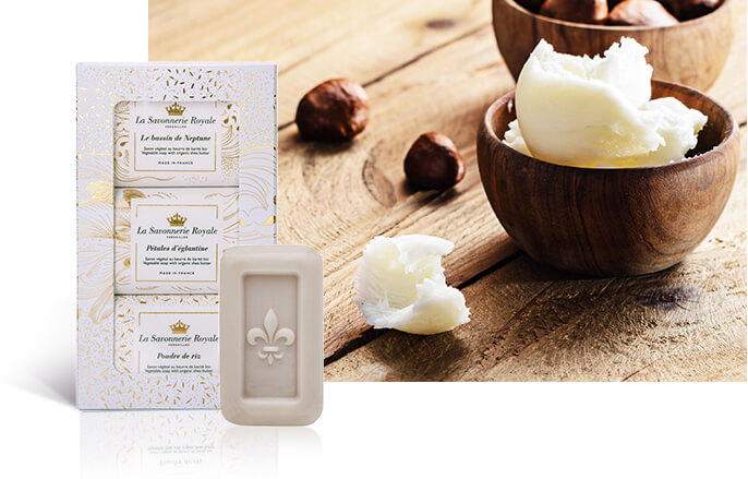 An artisanal production of soaps enriched with organic shea butter